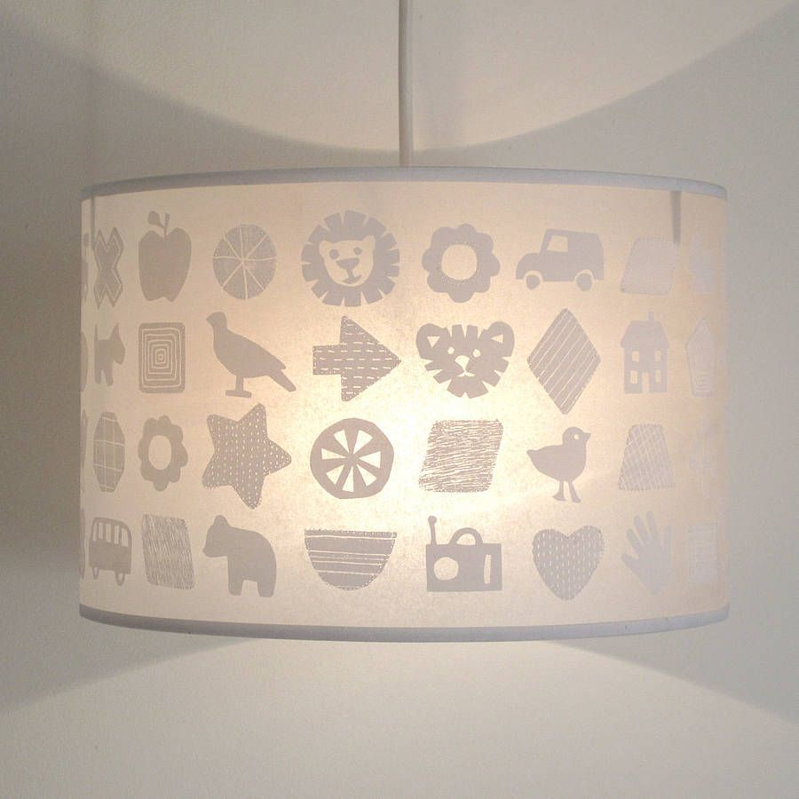 Shapes And Things Pendant Lampshade For Nursery