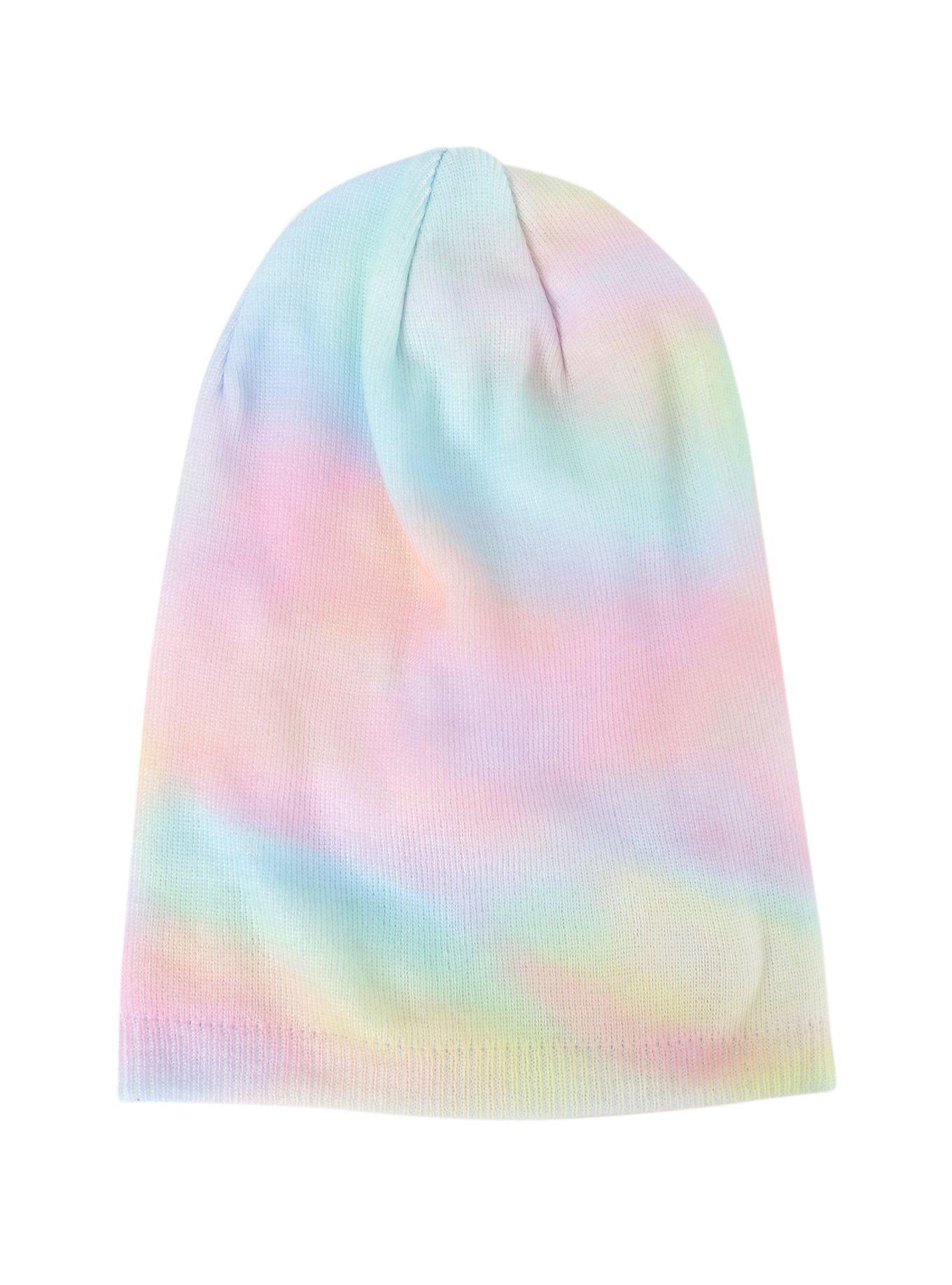 Pink Pastel Tie Dye Beanie 100/%