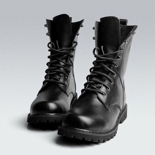 botte femme style militaire