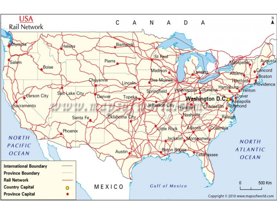 Buy Interactive Rail Network Map Of Us Maps Of Usa Us Maps