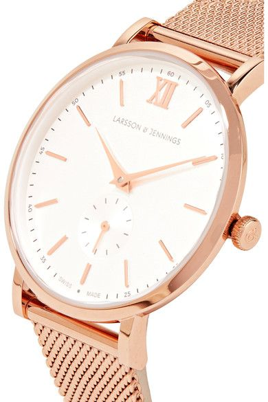Larsson & Jennings - Lugano Ii Rose Gold-plated Watch
