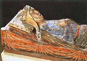 Isabella of Angouleme, renowned beauty. King John, youngest son of Queen Eleanor of Aquitane, was in lust with her from the first time he saw her at 13. She was betrothed to a De Lusignan, but he married her on the sly. His subjects did not approve of his mad passion for her, but he ignored them and openly spent a lot of time in bed with her, which caused much scandal.