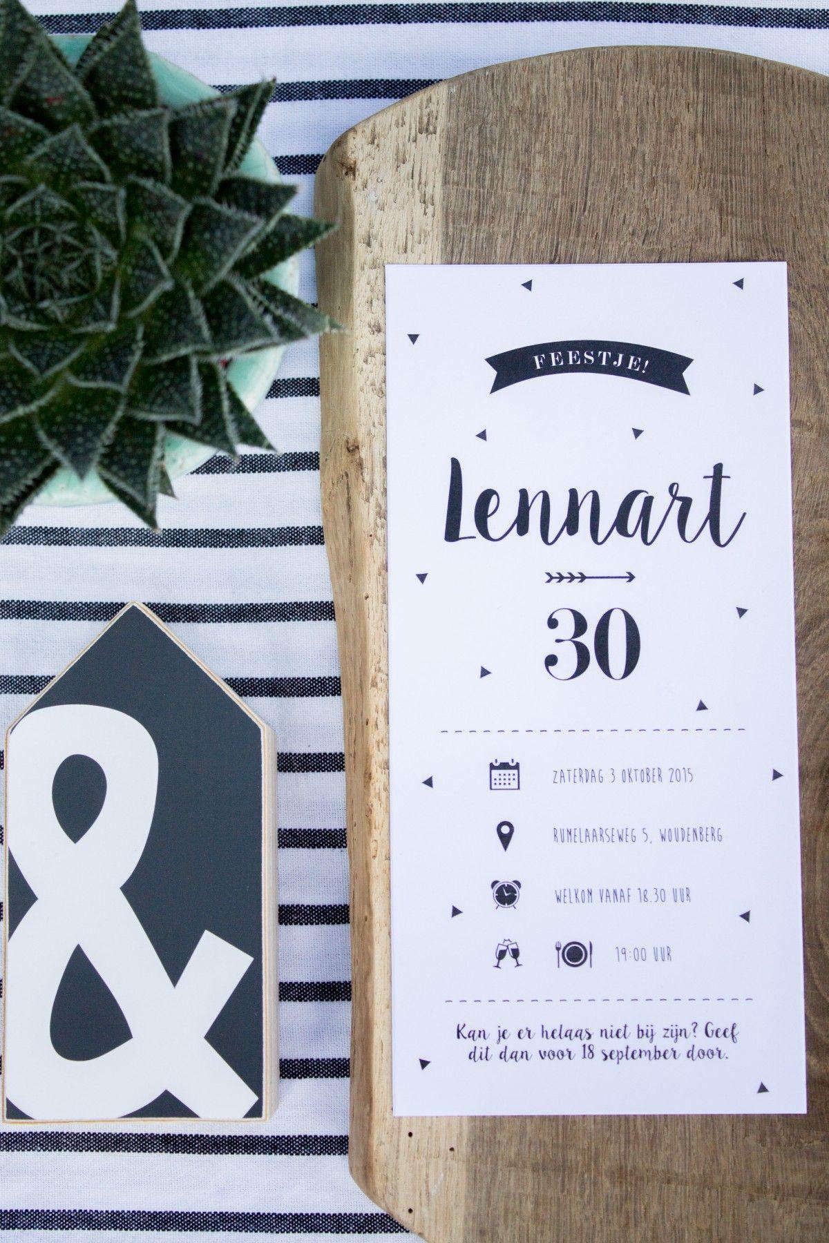 Uitnodiging Verjaardag Lennart 30 Jaar Pinterest