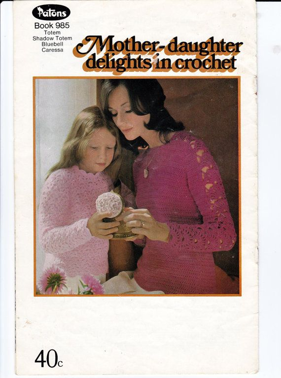 Bohemian & Mod 1960s Vintage Crochet Patterns Book Patons 985 from Australia
