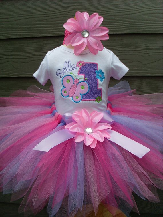 Personalized Onesie /& Fabric Tutu set|Personalzied Birthday Outfit|Fabric Tutu|Custom Onesie|Custom Tutu