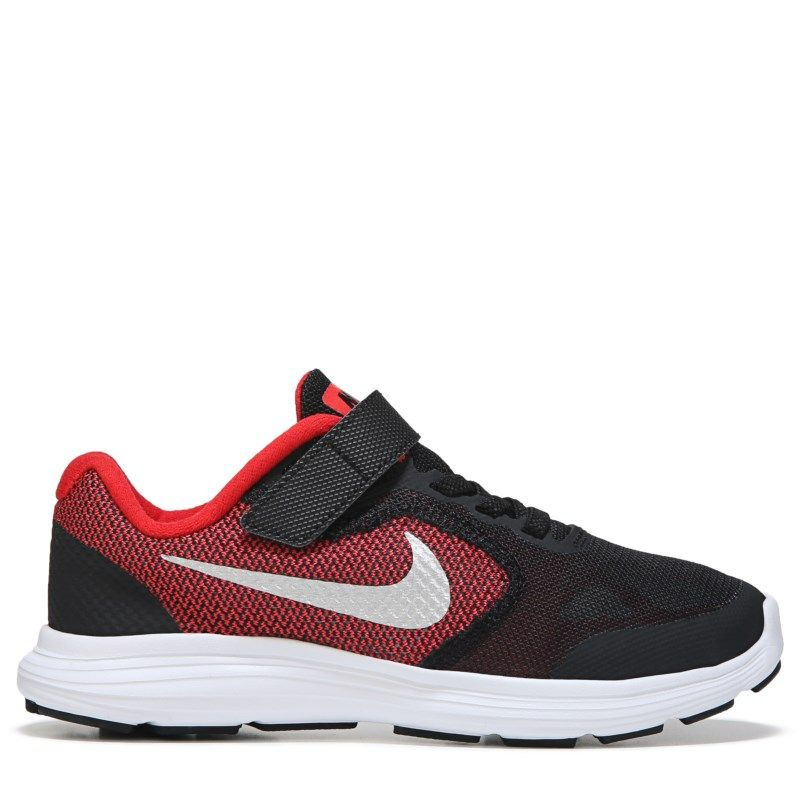 Nike Kids' Revolution 3 Wide Running Shoe Preschool Shoes (Red/Black)