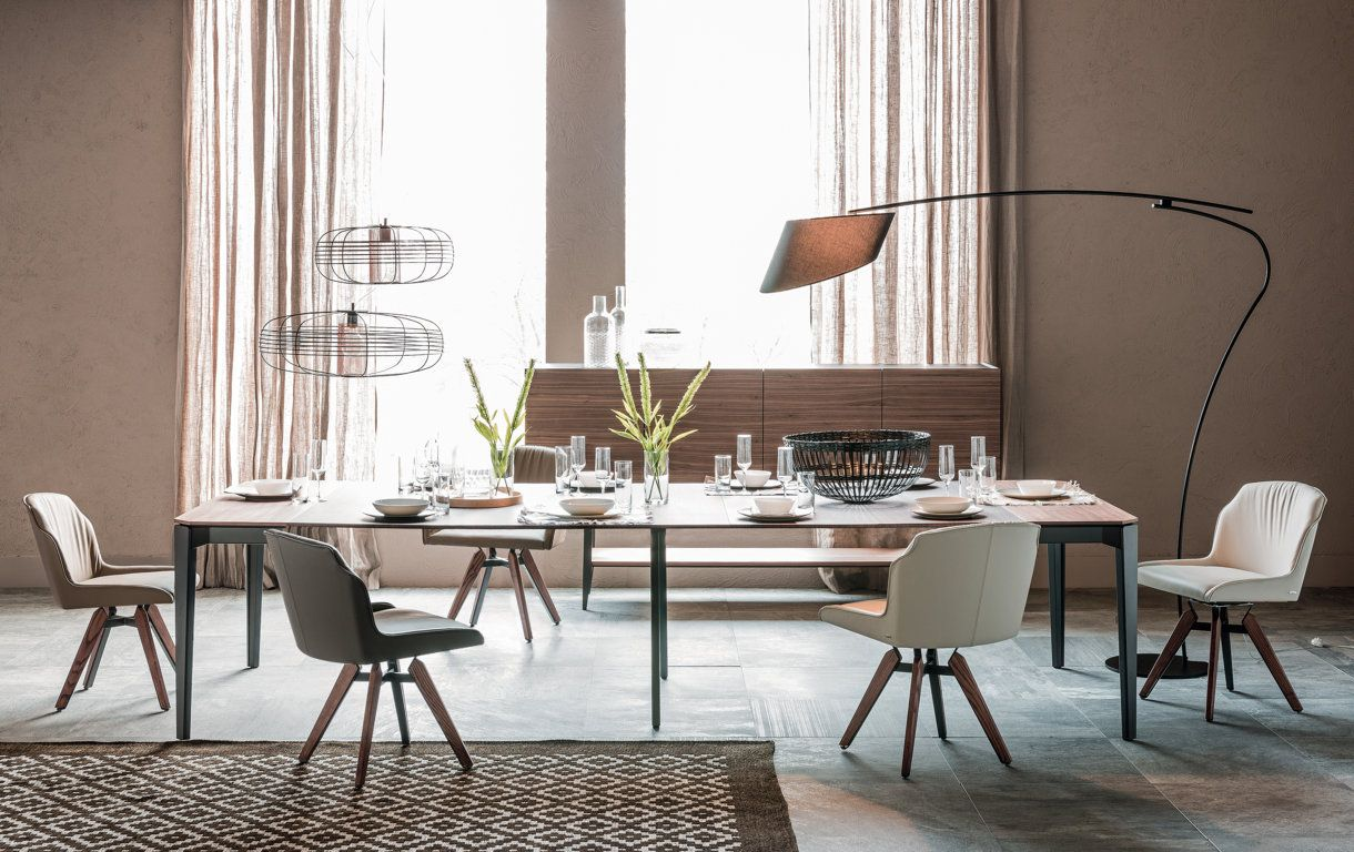Sedia Tyler, disegnata da Paolo Cattelan per Cattelan Italia, con ... - Tyler Dining Chair with Nemo Drive Console by Cattelan Italia