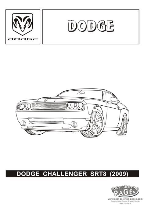 dodge challenger srt8 cars coloring pages