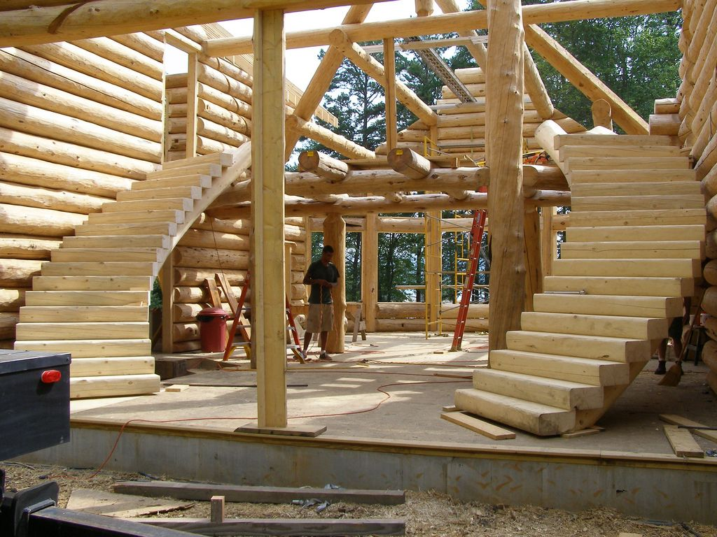 Https://flic.kr/p/9bo3To | Handcrafted Custom Log Stairs