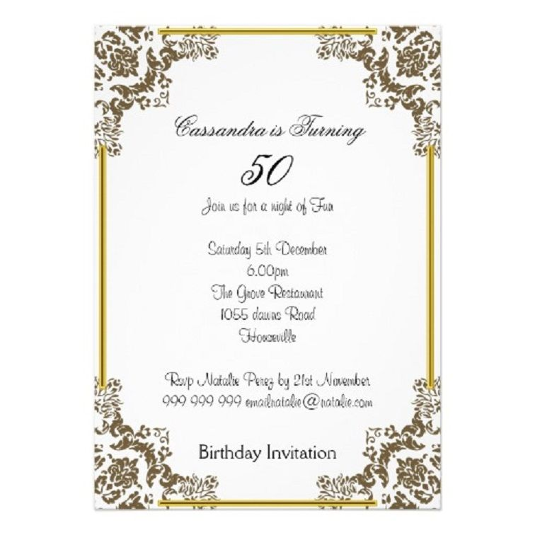 50th Birthday Invitations In Spanish