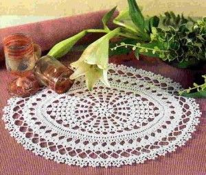 free crochet doily pattern with grounds and a lovely shape