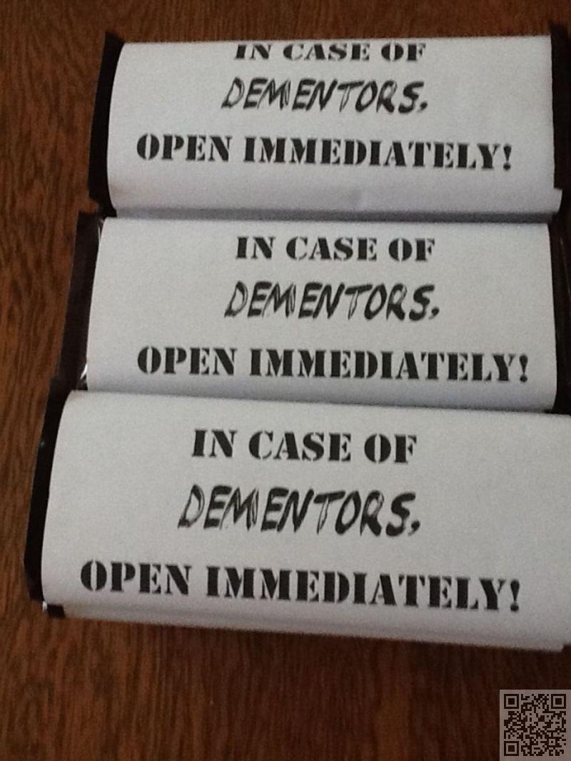 En caso de Dementor, abrase inmediatamente! Chocolates :O