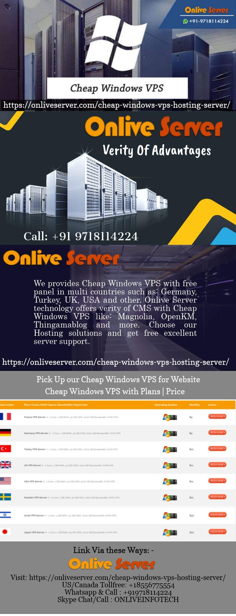 Cheap Windows VPS Hosting Plans Windows VPS Server