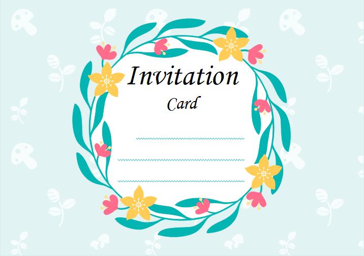 Fabuleux Modèle de carte d'invitation des événements vierge, gratuit à  XZ42