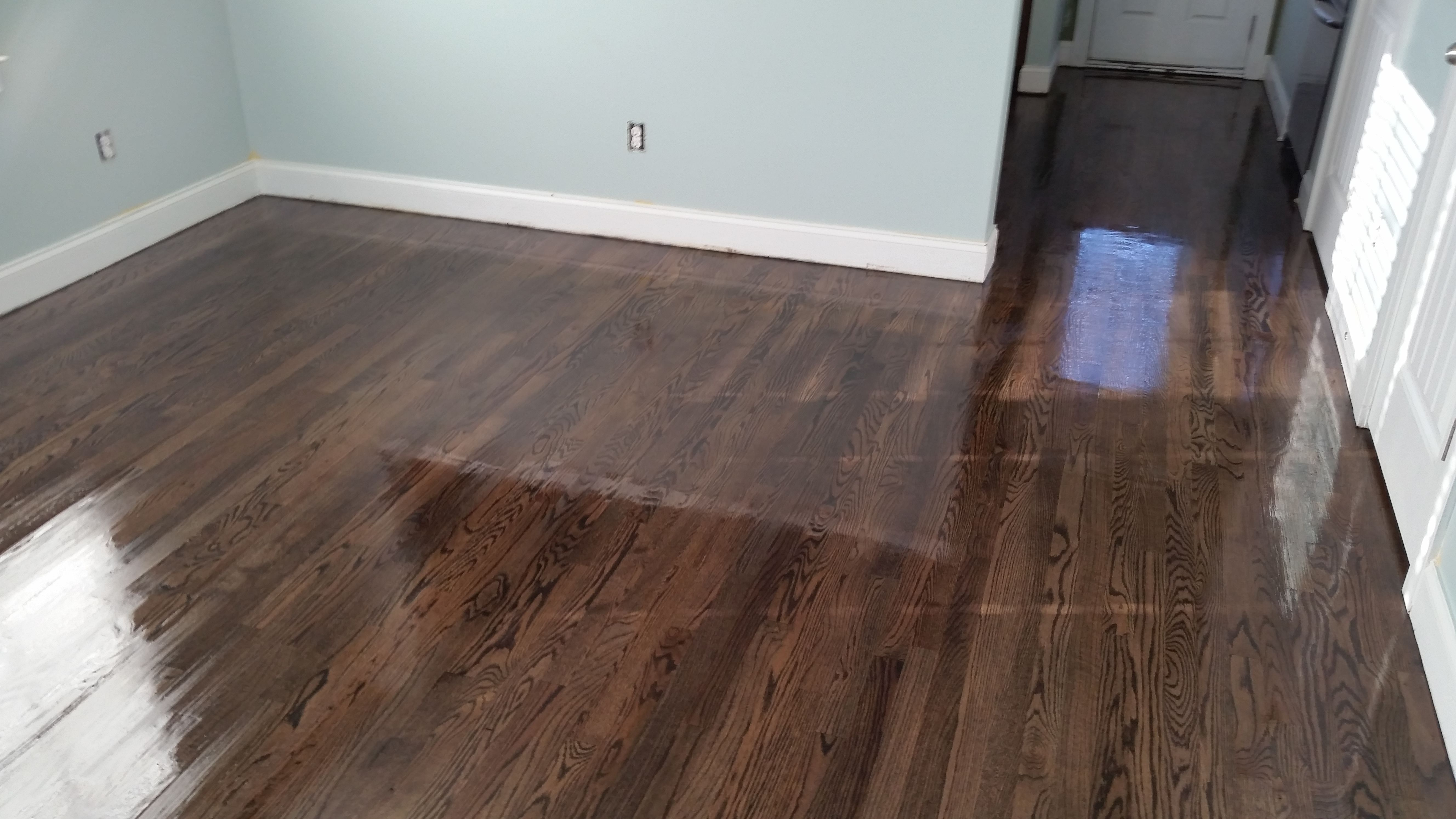 Dura Seal Ebony Stain On Red Oak Hardwood Floors In 2019