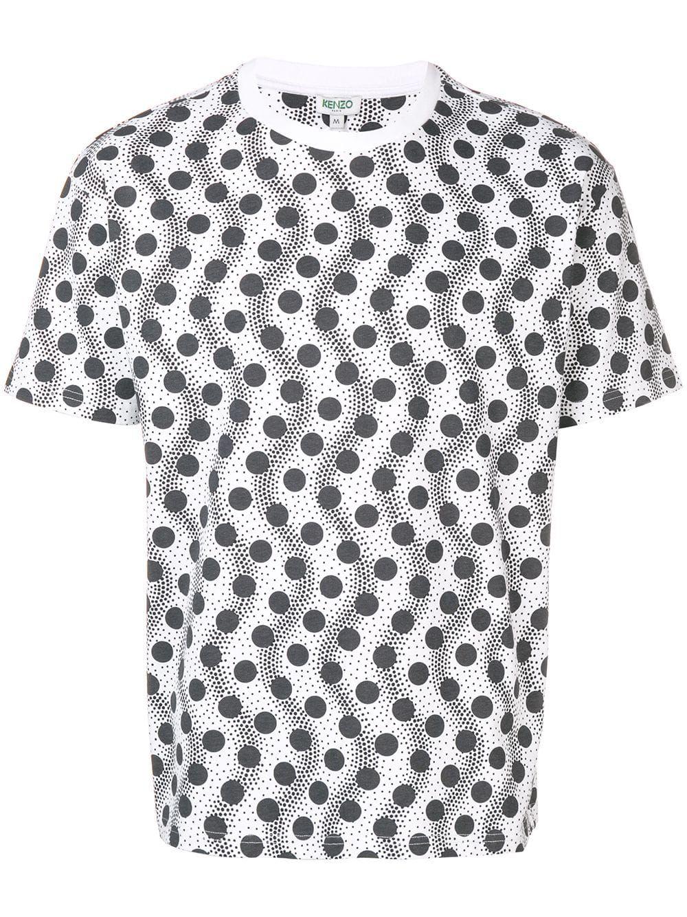 03987284 Kenzo polka dot logo T-shirt - White | Products in 2019 | Dot logo ...