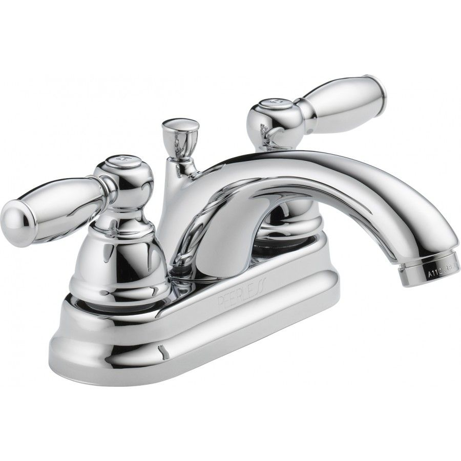 Peerless Faucets Centerset Two Handle 7.25 Bathroom Faucet ...