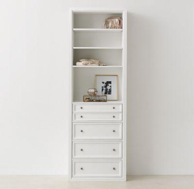 Classic modular closet system 4 drawer storage