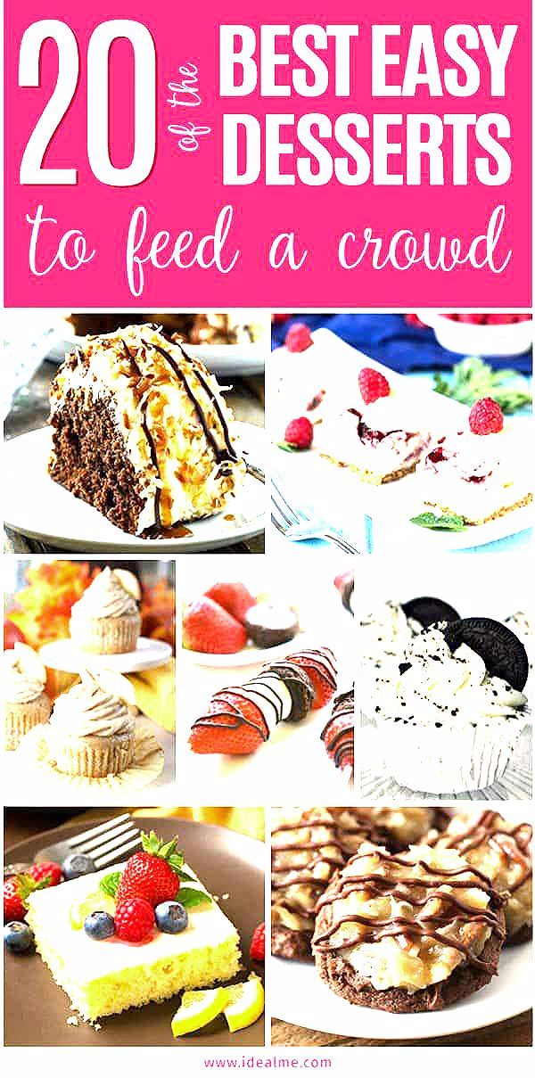 Photo of 20 of the Best Easy Desserts for a Crowd – Ideal Me