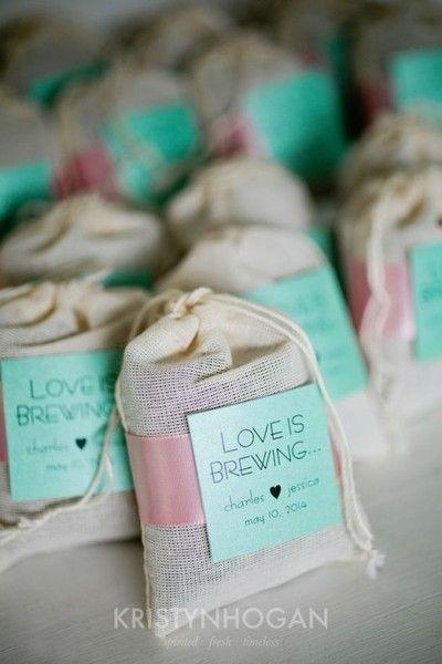 love is brewing tea bags pretty bridal shower favors photos
