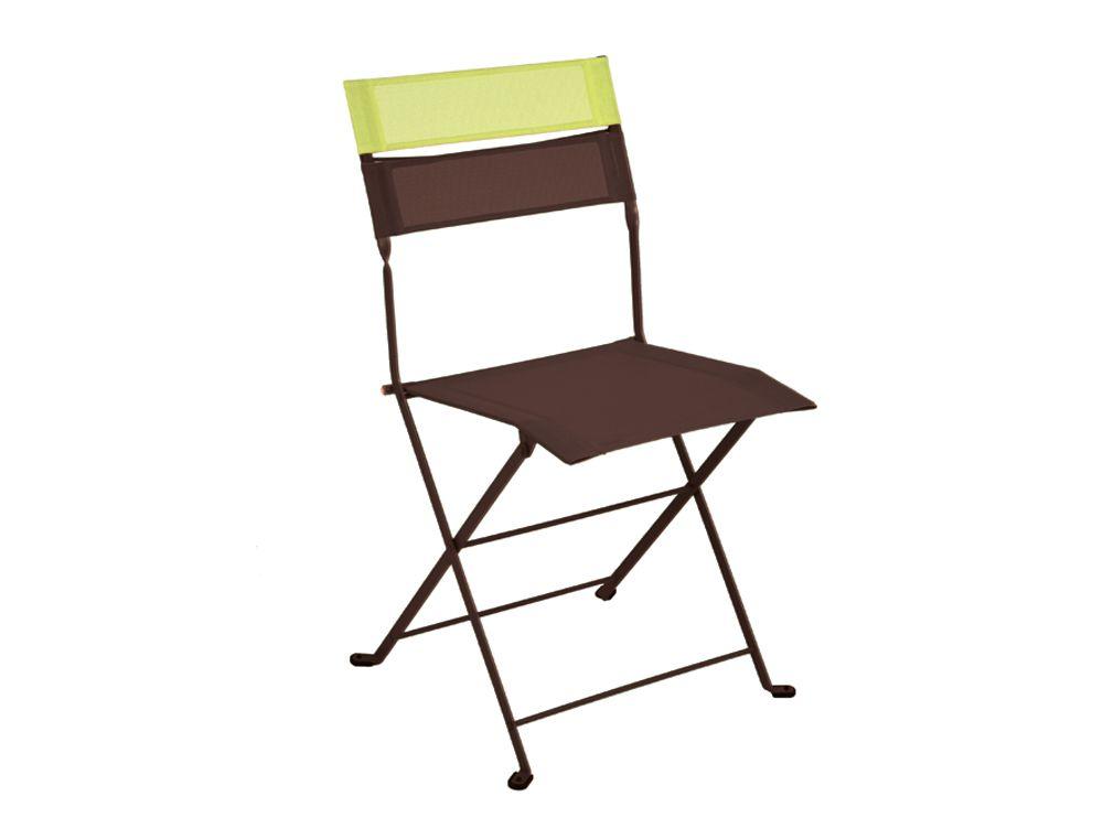 Chaise bicolore Latitude, chaise de jardin en toile   ROUILLE ...
