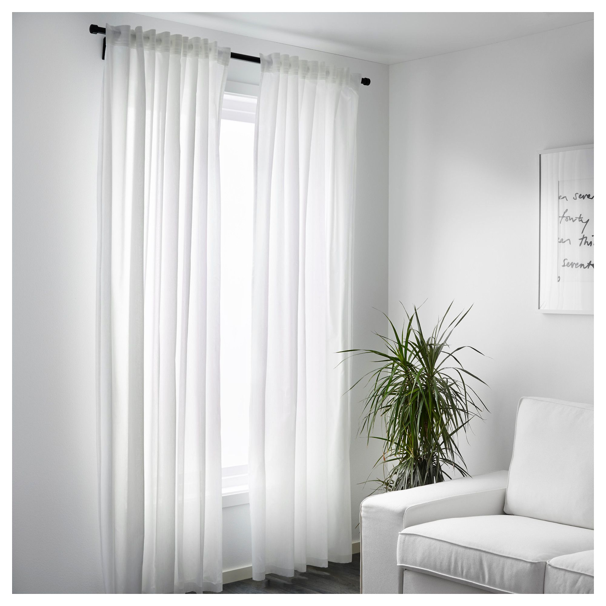 Gardine Wohnzimmer Ikea Ikea Vivan Curtains 1 Pair White Products In 2018 Pinterest