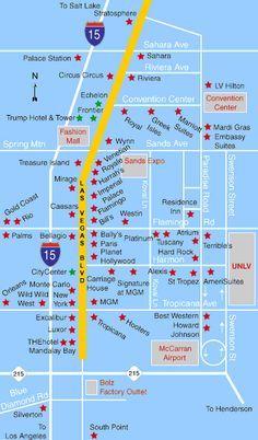 Map Of Las Vegas Hotels Las Vegas Hotels Map Las Vegas Hotels