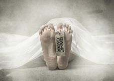 Dead foot on hobitory Royalty Free Stock Photos