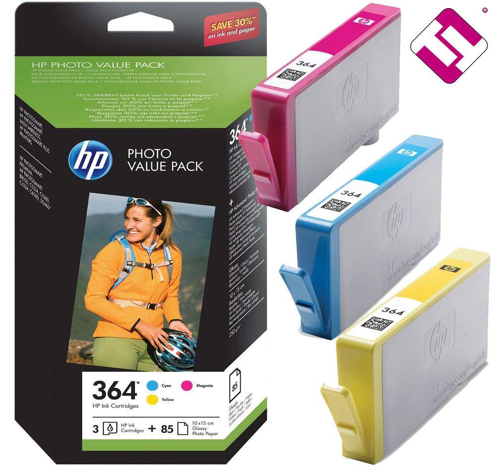 Multipack Hp 364 Ch082ee Papel Fotografico 85 Hojas Foto Deskjet