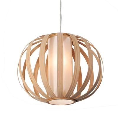 Bazz Vibe Series 1 Light Wood Hanging Pendant With Natural Bamboo Shade P00139bg The Home Depot Home Lighting Wood Pendant Light Pendant Lighting Hang