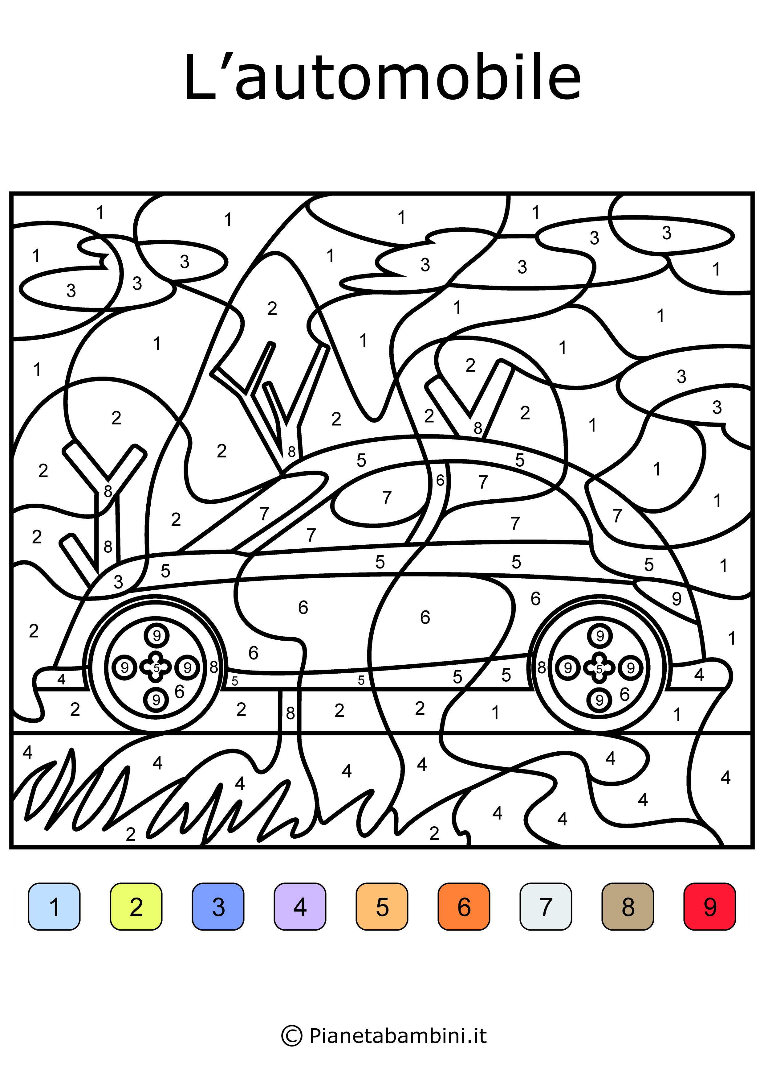 Conta E Colora Da Stampare Disegni Da Colorare In Base Ai Numeri Pianetabambini It Disegni Da Colorare Disegni Stampe Per Bambini