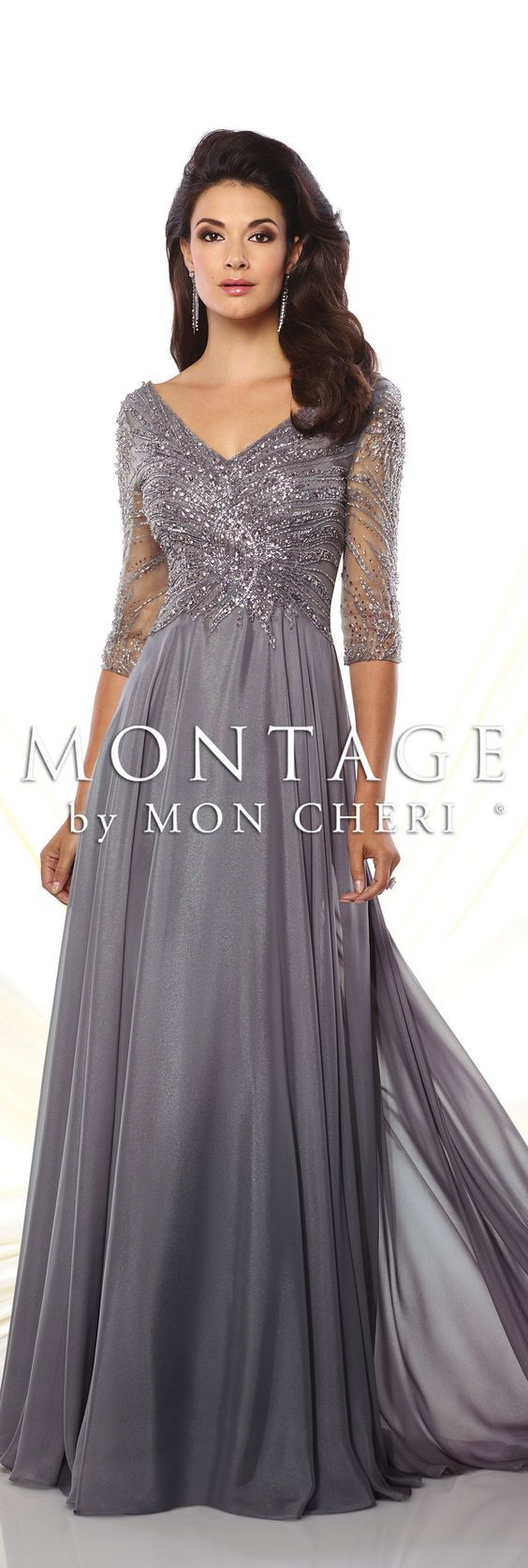 Sophisticated mother of the bride dresses by mon cheri spring