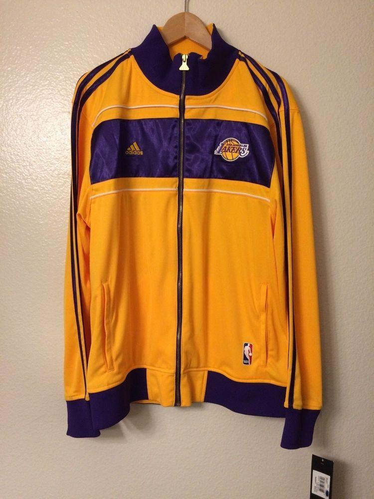 56aec363ea8e7f 2010 Adidas Lakers Championship Jacket 16 Banners large Lg NBA Los Angeles  la  adidas  LosAngelesLakers
