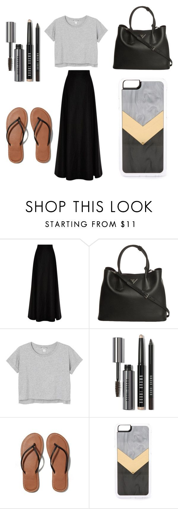 """Untitled #2"" by sofi-the-first1912 on Polyvore featuring Rosie Assoulin, Prada, Monki, Bobbi Brown Cosmetics, Abercrombie & Fitch and Zero Gravity"