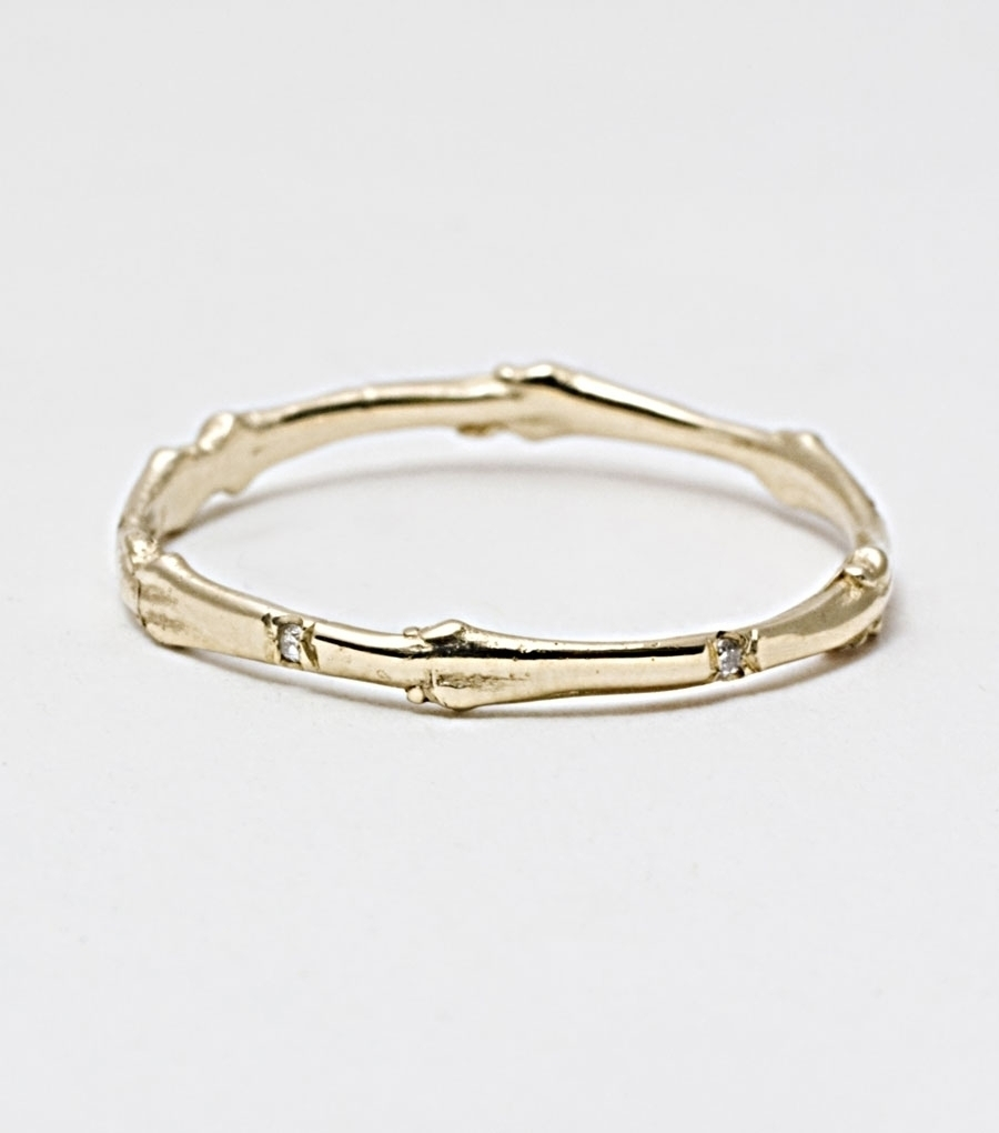 Gold Lucky Seven Twig Ring