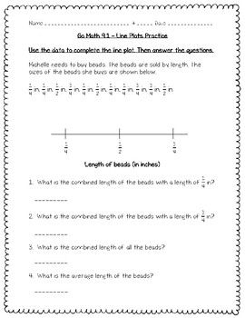 Go Math Practice - 5th Grade 9.1 - Line Plots | Go math ...