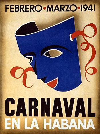 Canaval En La Habana Febrero Marzo 1941 Travel Poster