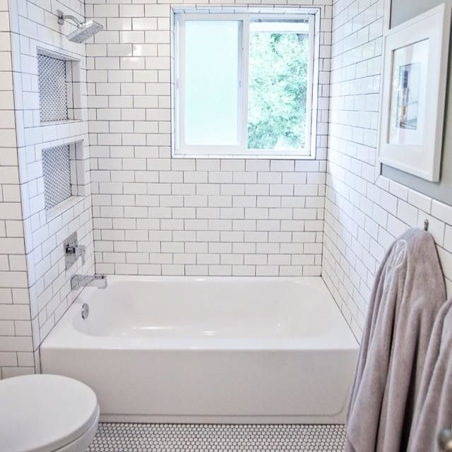 Subway And Penny Tile The Loo Pinterest Shower Tiles