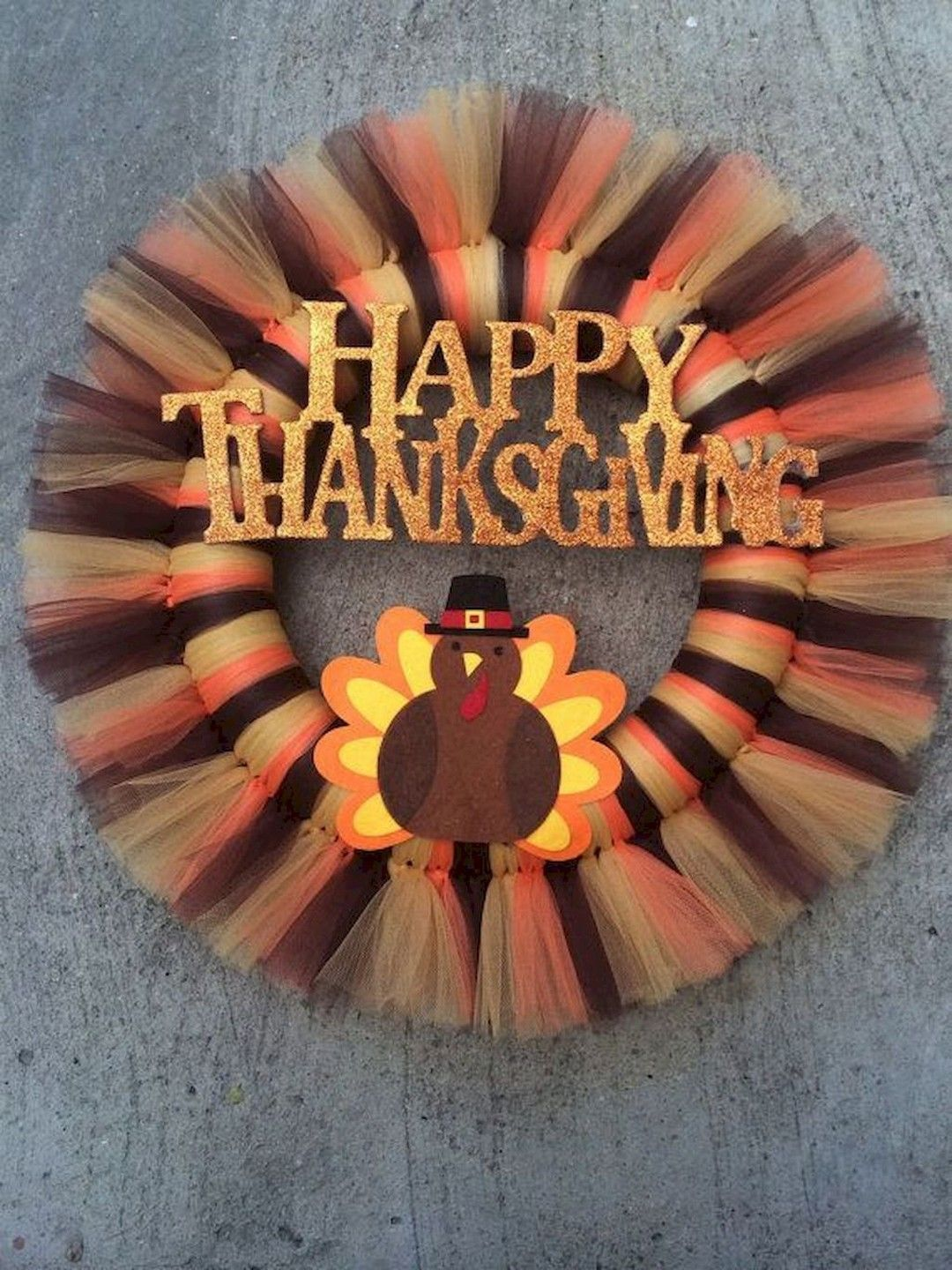 Country Farmhouse Chic Wreath Thanksgiving Holiday Decor Turkey Decor Small Whimsical Thanksgiving Turkey Front Door Deco Mesh Wreath