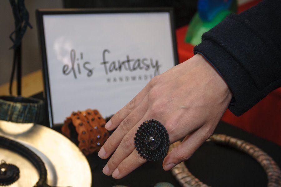leather rings by eli's fantasy handmade jewelry  www.elisfantasy.com