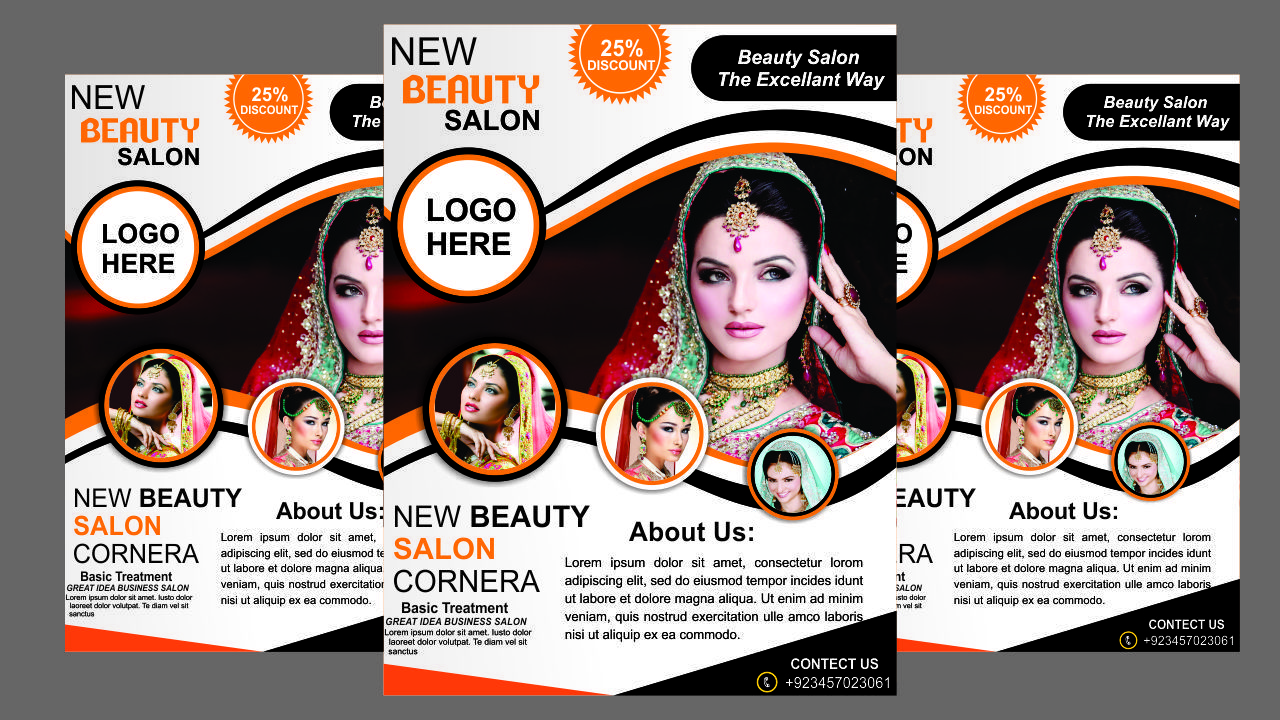 Beauty Salon Flex Design In Coreldraw X7 2 Creating Beauty Parlour Flyer Design Flyer Design Beauty Parlor Beauty Salon