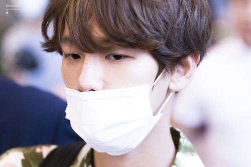Baekhyun - 160901 Incheon Airport, arrival from Hawaii Credit: Badgum0506. (인천공항…