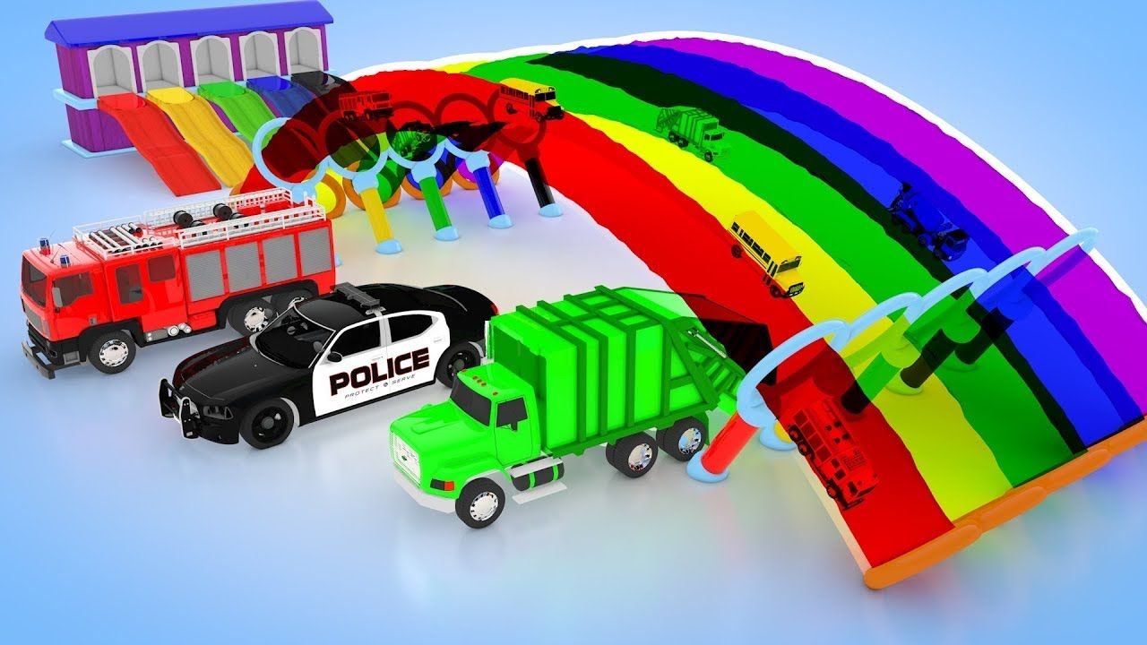 Colors for Children to Learning with Street Vehicles Color Changer ...
