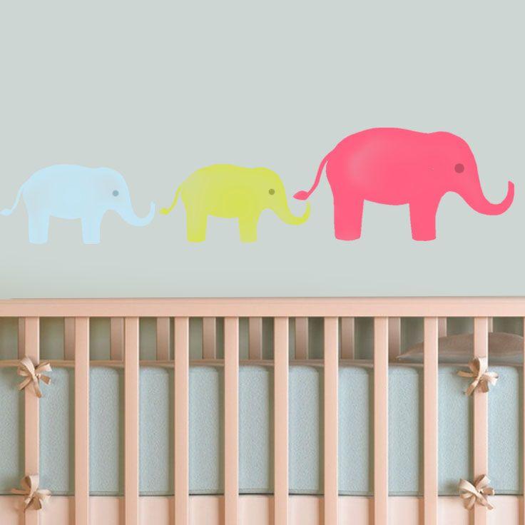 elephants nursery wall decor stencil nursery wall decor