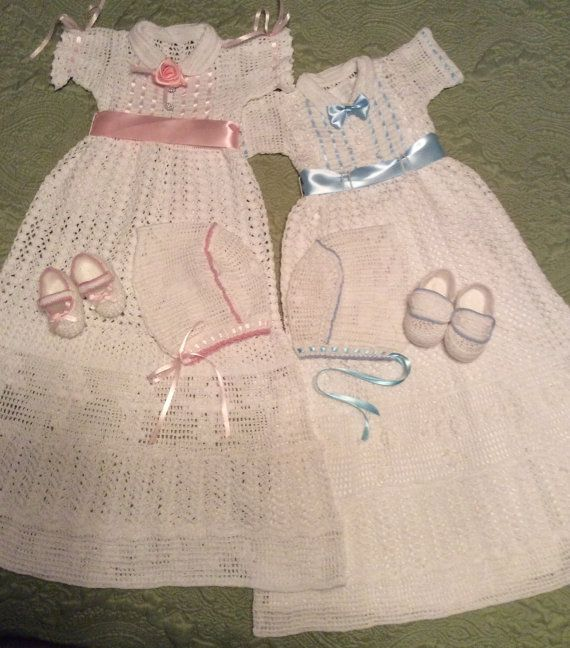 Baby Liam and Lia christening crochet pattern for boy or girl ...
