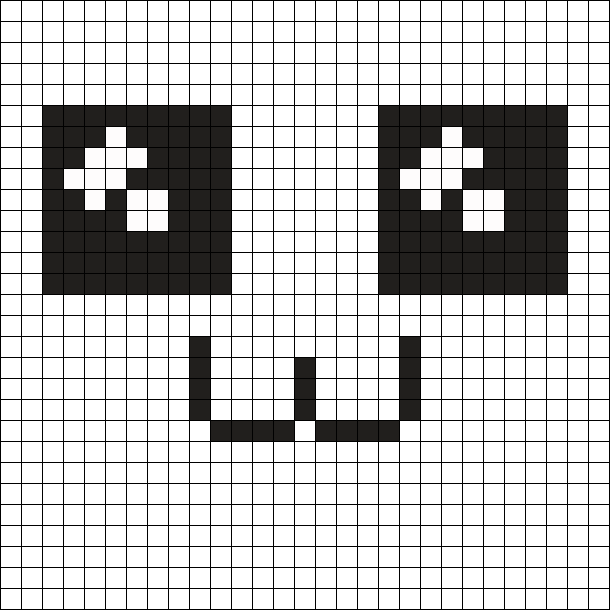 Kawaii Eyes And Mouth Perler Bead Pattern / Bead Sprite