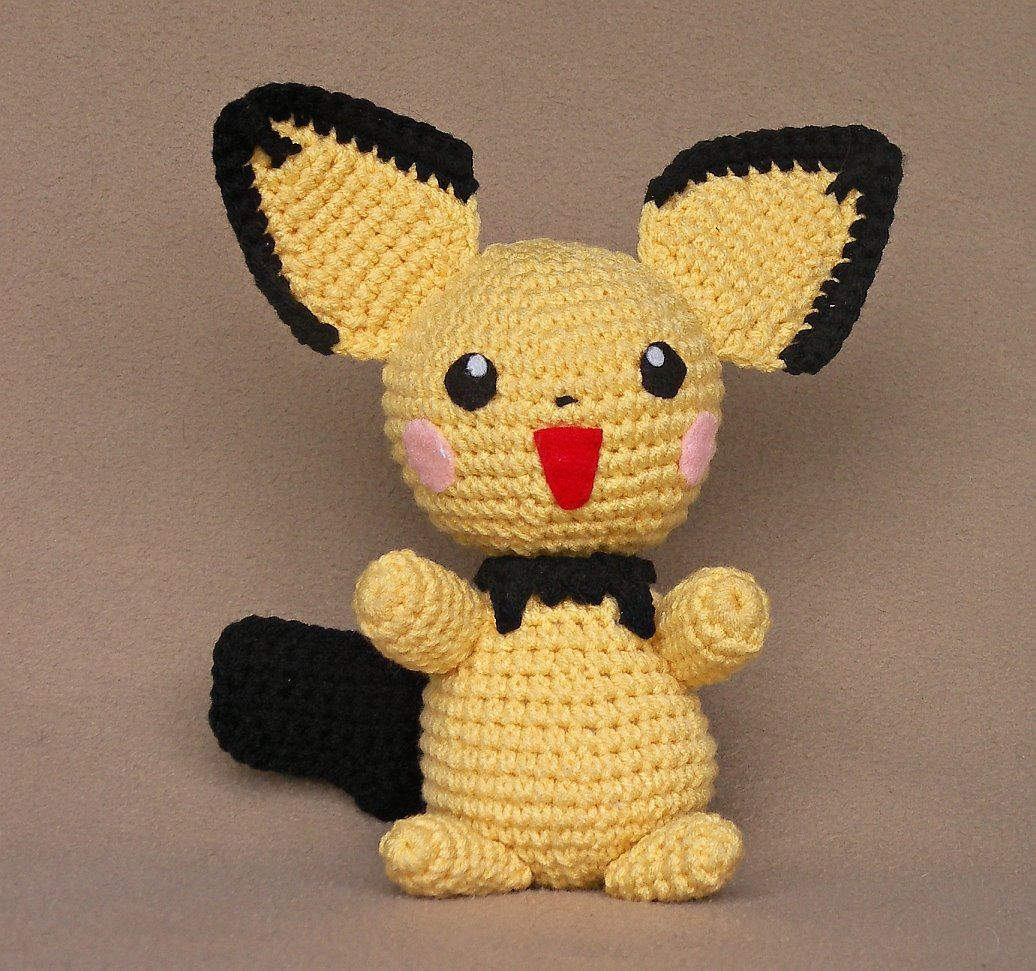 Pokemon+Amigurumi+Free+Pattern | 1500 Free Amigurumi Patterns: Pichu ...
