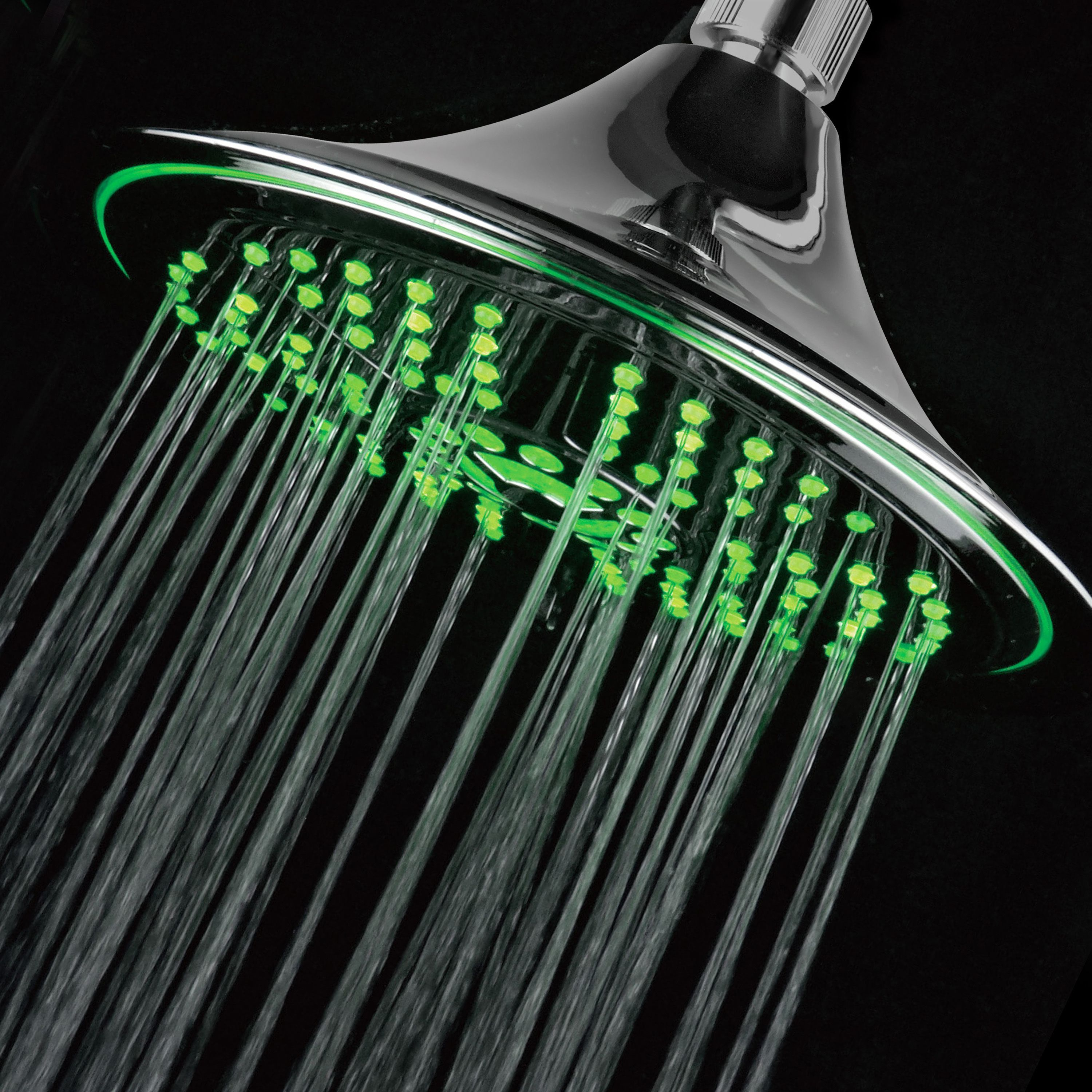 Upgrade your shower with this 8-inch rainfall LED showerhead. Never ...
