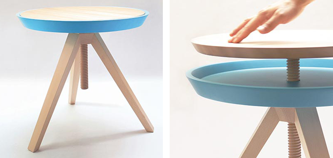 Giros wind up table solid ash by Cristian Reyes.