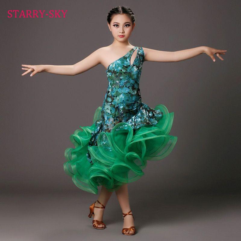 Encontrar Más Salón de baile Información acerca de Niño de Baile Latino  Vestido de La Muchacha de Baile Latino Vestidos Niños Traje Vestido Para  Niños ... a3d2b2adadb